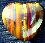 30mm Tiger Eye Puff Heart Worry Healing Stone