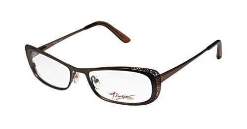 Thalia Canela Womens/Ladies Rxable Sleek Designer Full-rim Eyeglasses/Spectacles (54-17-138, Brown) (Rb 3030 compare prices)