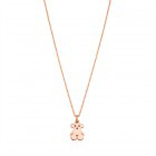 Tous Collana AG Vermeil Rosa New Basic Orso 16mm