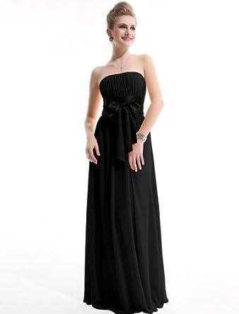 HE09060BK06, Black, 4US, Ever Pretty Bridesmaid Dresses Chiffon 09060
