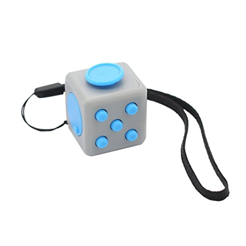 OVERMAL Fun 6 Sided Fidget Cube Dice Anxiety Attention Stress Relief Xmas Adults Toy