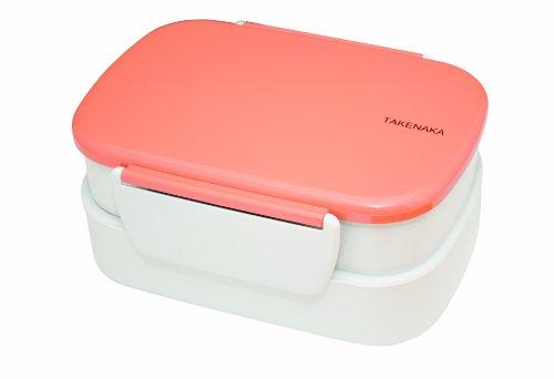 Takenaka Double Bento Box, Coral front-567747