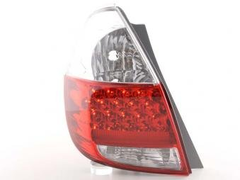 Led Taillights Honda Jazz /Typ Gd15/Ge23 Yr. 02- Clear/Red