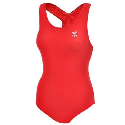 TYR - Mädchen Badeanzug - Rot - 140