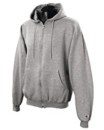 Champion Adult 50/50 Full-Zip Hooded Sweatshirt, Ash, Large
