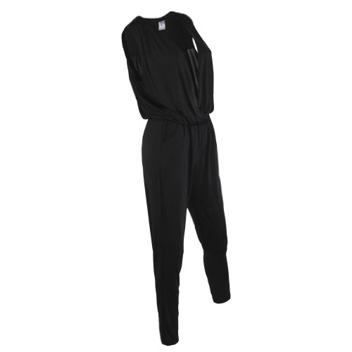 Gamiss Women's Korean Style Slimming Tunic Casual Shift Jumpsuit