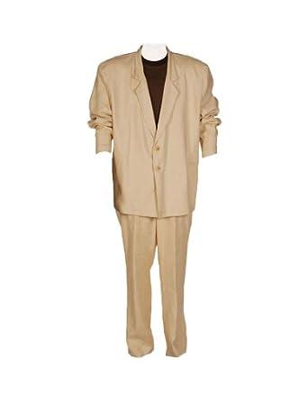 Men's Deluxe Miami Vice 80's Detective Theatrical Costume, Beige,