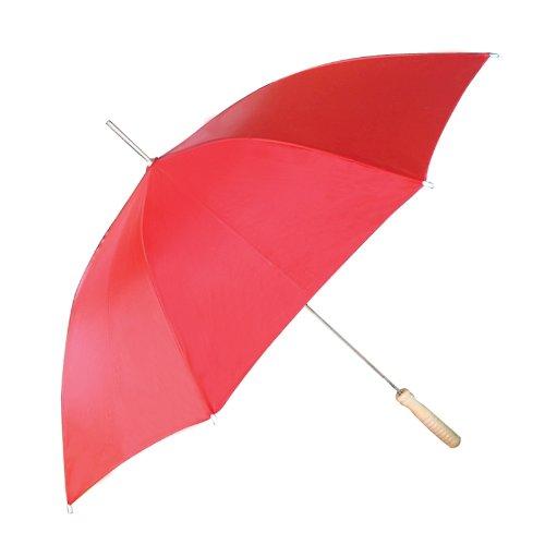 "48"" Auto Open Solid Red Umbrella"