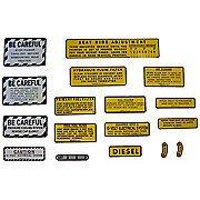 Ih 560, 660 Diesel: Mylar Misc Decal Set -- 15 Pieces