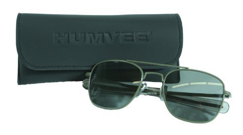 Humvee Pilot Sunglasses - Grey Polarized Lens, Olive Frame by Hummer (Hummer Eyewear compare prices)