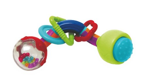 Manhattan Toy Twisty Time Rattle TeeTher and Clutching Toy - 1