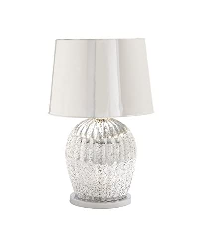 Glass Table Lamp, Silver As You See