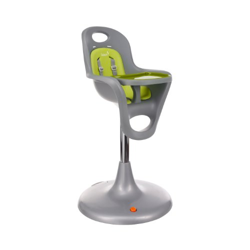 Boon Flair Pedestal High Chair,Gray/Green front-3374