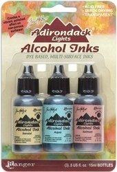 Ranger Adirondack Lights Alcohol Ink 1/2-Ounce 3/Pkg, Lakeshore (Ranger Adirondack Alcohol Ink compare prices)