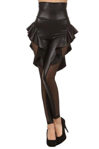 Women's Casual Fashion Sexy Slim Print Legging 79313 Black Free Size