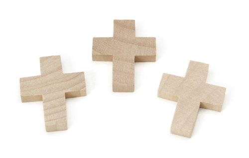 Darice 9145-94 Natural Unfinished Wood Cutout, Cross, 2-Inch