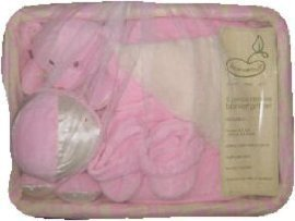 5-Piece Deluxe Blanket Gift Set in Pink - 1