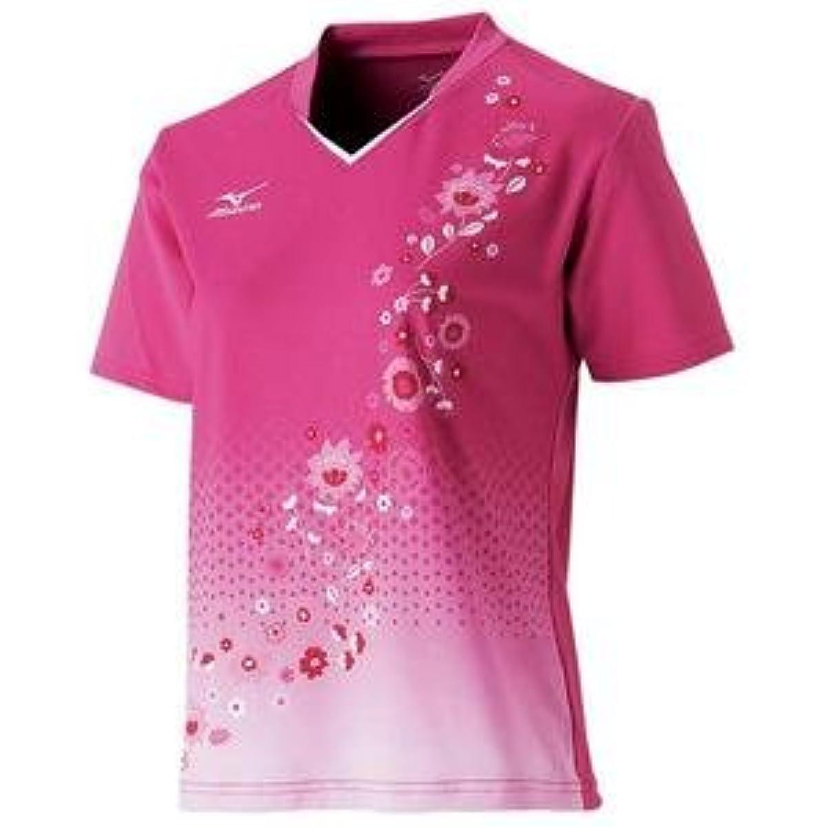 [해외] MIZUNO 게임 셔츠(탁구/레이디스)(베리 핑크) 주문 상품 사이즈:XL