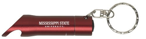 Mississippi State University - Led Flashlight Bottle Opener Keychain - Burgundy