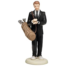 Weddingstar Golf Fanatic Groom Mix & Match Cake Topper - Caucasian