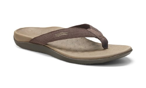 Vionic With Orthaheel Technology Womens Wave Orthatic Sandal Chocolate Size 14 B(M) Us Women / 13 D(M) Us Men front-658664