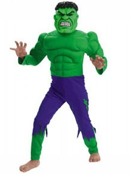 Hulk Muscle Costume - Child Costume deluxe - Medium (7-10)