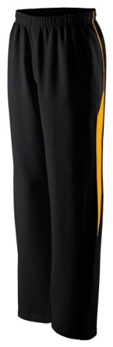 Holloway Women'S Elasticized Waist Pivot Pant, Black/Light Gold, Small