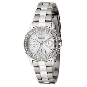 Accurist Ladies Quartz Watch With Mother Of Pearl Dial Analogue Display And Stainless Steel Bracelet LB1640P