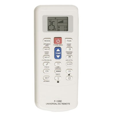 Plastic Shell Lcd Display Air Conditioner Remote Control White