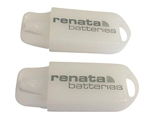 Set of 2 Renata Hearing Aid Battery Holder Key Ring