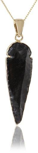 Charles Albert Obsidian Arrowhead Pendant Necklace