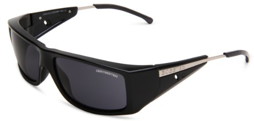 Bobster Defector EDEF001 Rectangular Sunglasses,Black Frame/Smoke Lens,One Size