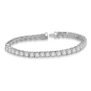 12.44 Ct Round Brilliant Cut Diamond Tennis Bracelet Platinum