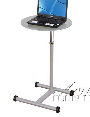 Buy Low Price Comfortable Laptop Stand with Glass Top in Gray Finish (B0059EWYG0)
