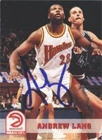 Andrew Lang Atlanta Hawks 1994 Hoops Autographed Hand Signed Trading Card. by Hall+of+Fame+Memorabilia