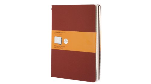 Moleskine Ruled Cahier Journal X-Large, Red: 