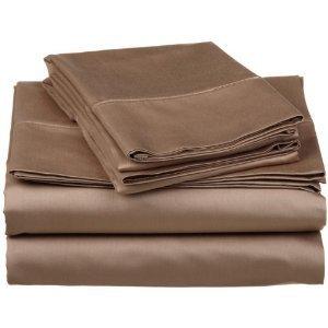 22 inch super deep pocket solid taupe queen size sheet set 100 egyptian cotton 300. Black Bedroom Furniture Sets. Home Design Ideas