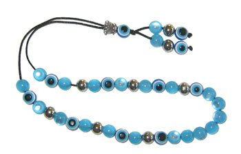 Evil Eye Worry Beads - Blue & Transparent Turquoise