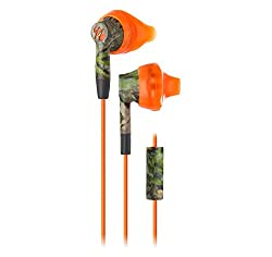 Yurbuds (CE) Inspire 300 Noise Isolating In-Ear Headphones, Mossy Oak Orange