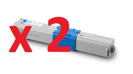 2-x-high-quality-compatible-cyan-toner-cartridges-for-oki-c310-c330-c331-c510-c511-c530-c531-mc351-m