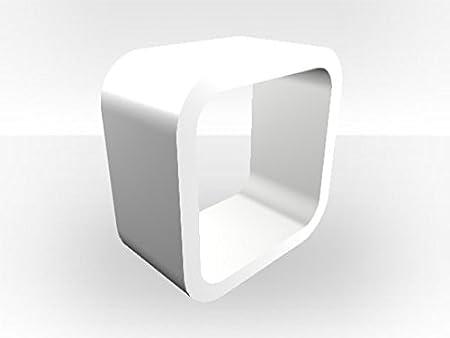 Blanco Exterior Cube unidad de medios