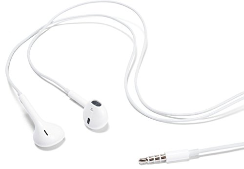 Earbuds Earpods With Control Talk Mic + Volume - White - For Iphone 3G 4 4S 5 5C 5S Ipad And Ipods