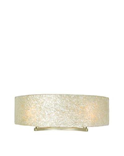 Varaluz Radius 2-Light Vanity Sconce, Gold Dust/Capiz Shell