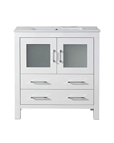 Virtu USA Dior 32″ Single Bath Vanity Cabinet, White