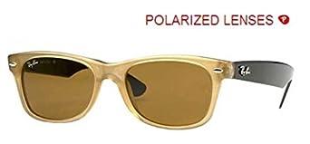 Ray-Ban 2132 945/57 Honey 2132 Wayfarer Sunglasses Polarised Lens Category 3 Le