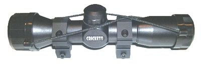 Crickett Keystone KSA054 Mil Dot Quick Focus Scope, 4x32-Millimeter, Black Matte Finish