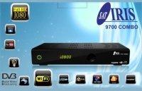 IRIS 9700 HD 02 - Receptor de TV por satélite (WiFi, HDMI, DVB-S2), negro