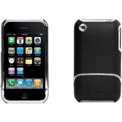 Griffin Leather Case with EasyDock for iPhone 3G, 3G S (Black,Chrome)