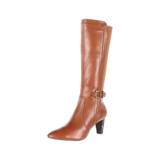 AK Anne Klein Womens Gaelyn Leather Boot