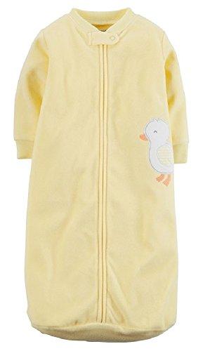 Carters One Piece Micro Fleece Sleep Bag or Sack (0-9 Months) Yellow Duck